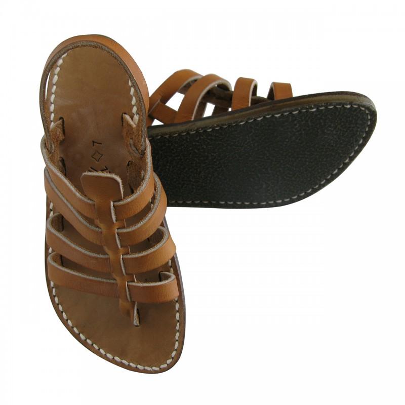 Tropéziennes natural leather