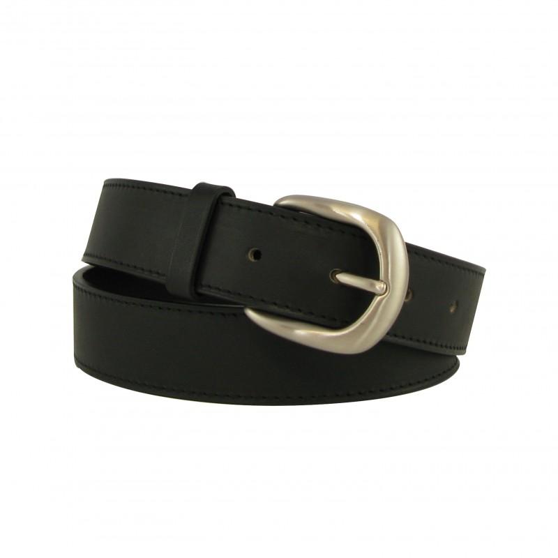 Black belt 3 cm silver buckle