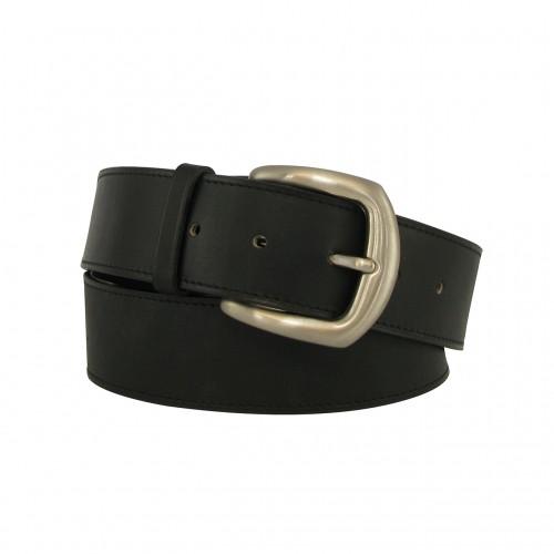 Black belt 4 cm silver buckle