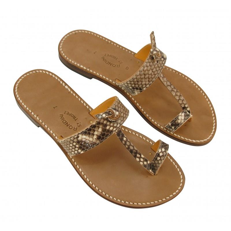 Hindou Real Python Leather